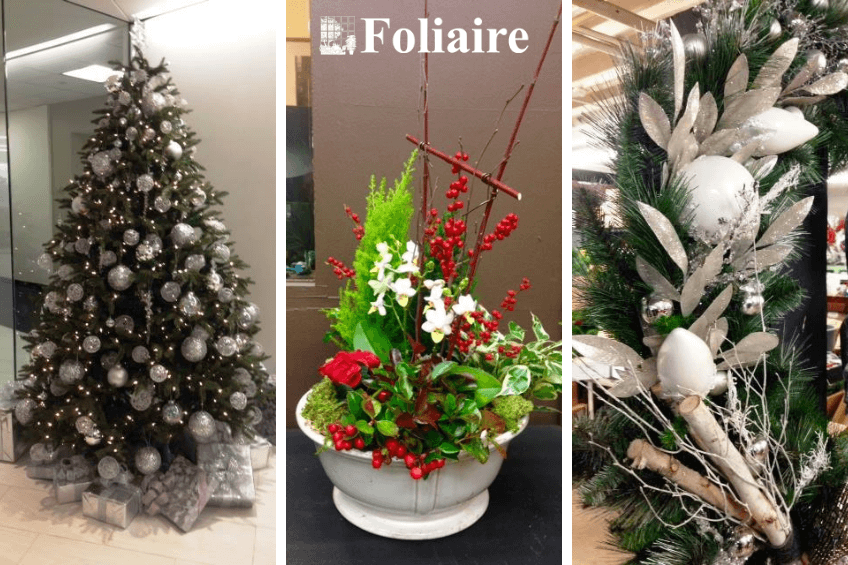 Holiday Decorating - How to Plantscape for the Holidays - Foliaire Inc. holiday plantscaping, holiday landscaping, holiday decor